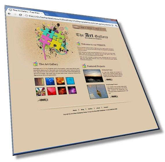 Шаблон для сайта веб студии: HTML + CSS - шаблон