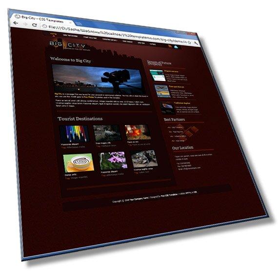 Шаблон сайта Big-city: HTML + CSS - шаблон