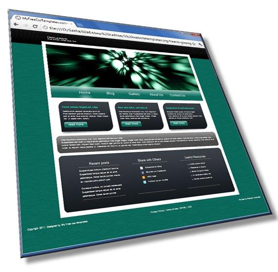 Шаблон сайта со слайдером: HTML, CSS, JS - шаблон