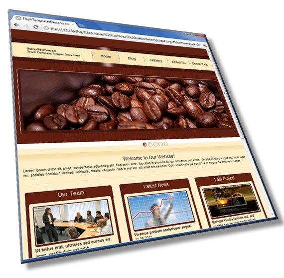 Шаблон сайта кофейни: HTML, CSS, JS - шаблон