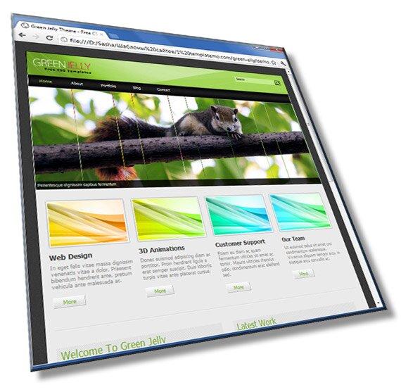 Шаблон сайта визитки: 5 страниц, HTML, CSS, JS - шаблон