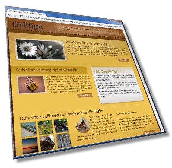 Шаблон для сайта портфолио: HTML + CSS - шаблон