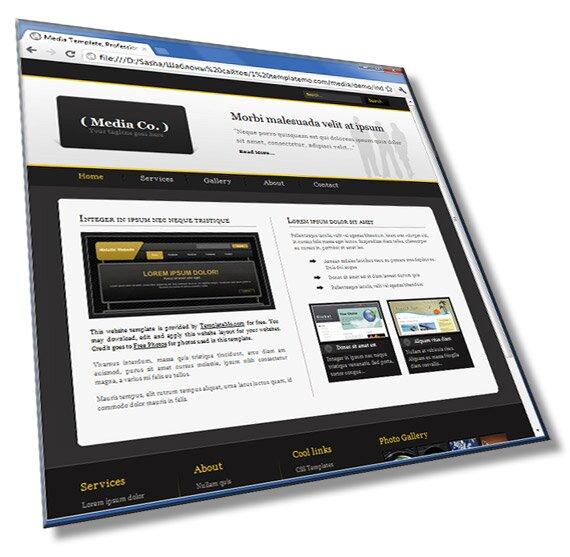Шаблон сайта для медиа компаний: HTML, CSS - шаблон