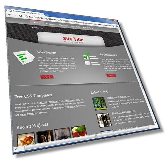 Шаблон сайта «Кривой метал»: HTML, CSS - шаблон