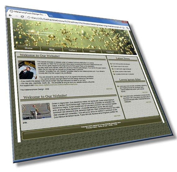 Шаблон сайта в сером цвете: HTML, CSS - шаблон