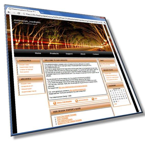 Портфолио путешественника: HTML, CSS - шаблон
