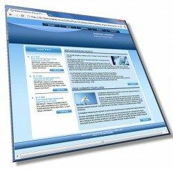 Шаблон: Простой дизайн с каруселью: HTML, CSS