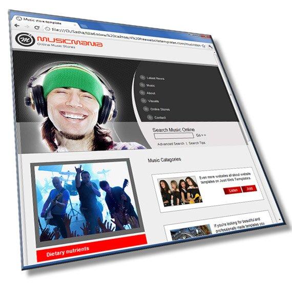 Шаблон музыкального сайта: HTML, CSS, 6 страниц - шаблон