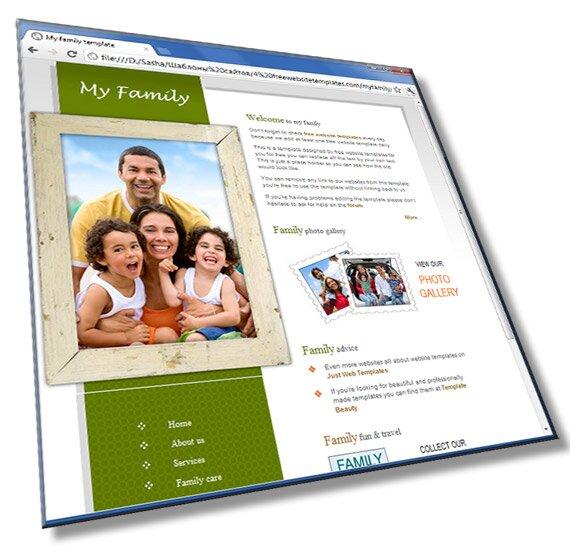 Шаблон сайта семьи: HTML, CSS, PSD, 6 страниц - шаблон