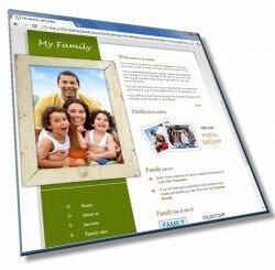Шаблон: Шаблон сайта семьи: HTML, CSS, PSD, 6 страниц