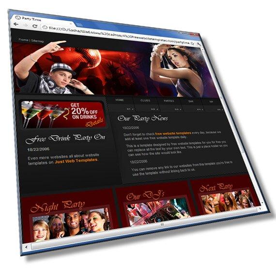 Шаблон сайта о клубах: HTML, CSS, 6 страниц - шаблон