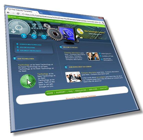 Шаблон для веб сайта: HTML, CSS, PSD - шаблон