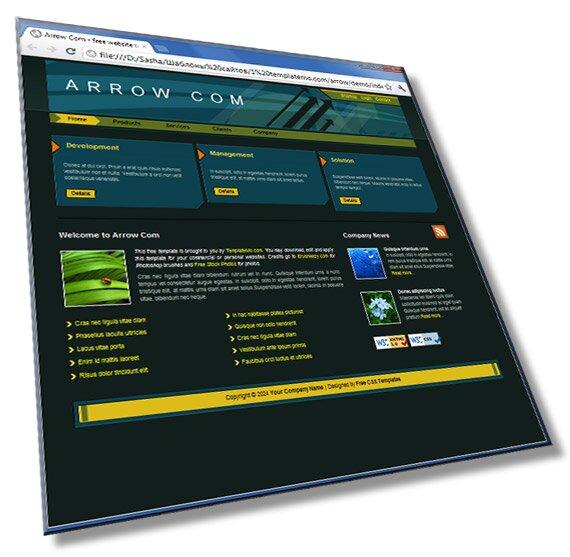 Шаблон сайта Arrow: HTML + CSS - шаблон