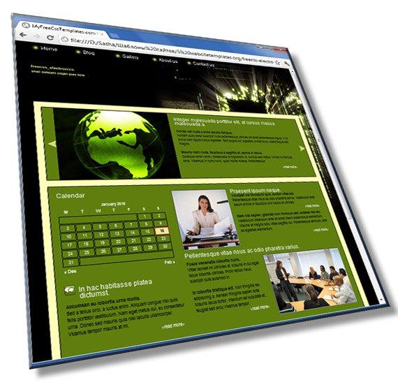 Шаблон сайта электроники: HTML, CSS, JS - шаблон