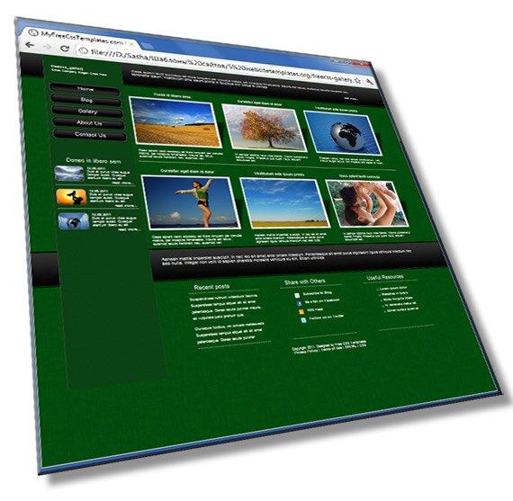Шаблон сайта галереи: HTML, CSS - шаблон