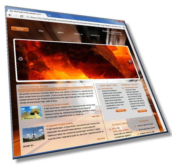 Шаблон визитка со слайдером: HTML, CSS, JS - шаблон