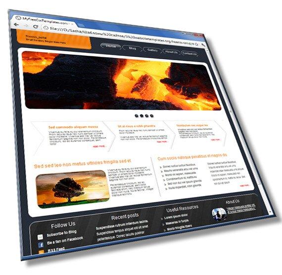 Шаблон сайта визитки со слайдером: HTML, CSS, JS - шаблон