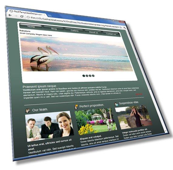 Шаблон сайта о природе: HTML, CSS, JS - шаблон