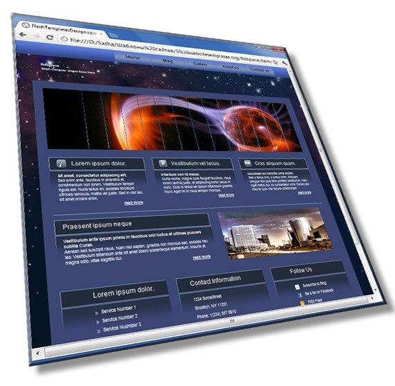 Шаблон сайта о космосе: HTML, CSS, JS - шаблон