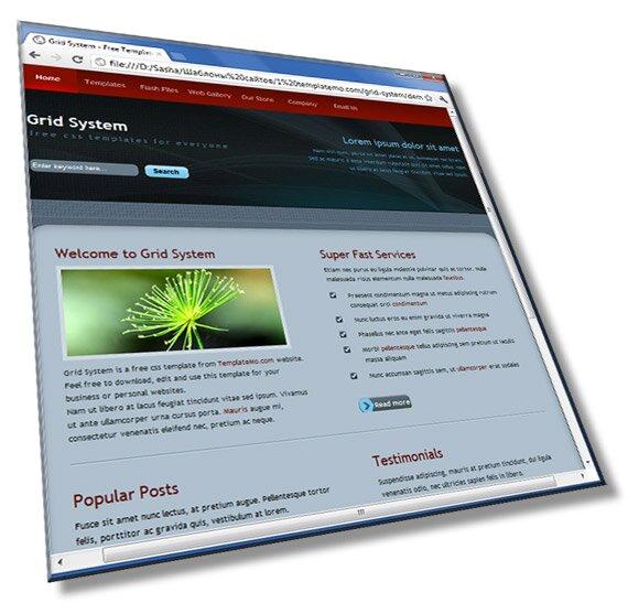 Шаблон сайта для бизнеса: HTML + CSS - шаблон