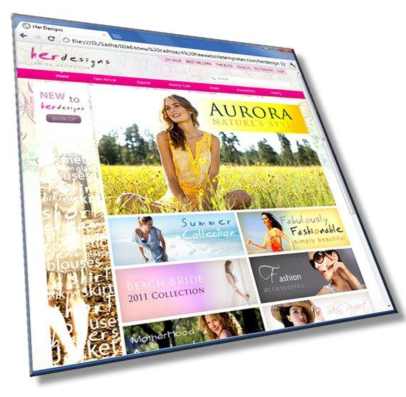 Шаблон сайта для женского интернет магазина: HTML, CSS, 12 страниц - шаблон