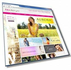 Шаблон: Шаблон сайта для женского интернет магазина: HTML, CSS, 12 страниц