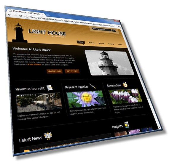 Шаблон сайта Маяк: HTML + CSS - шаблон