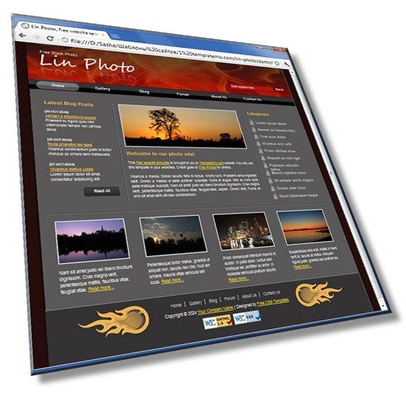 Шаблон для фото сайта: HTML + CSS - шаблон