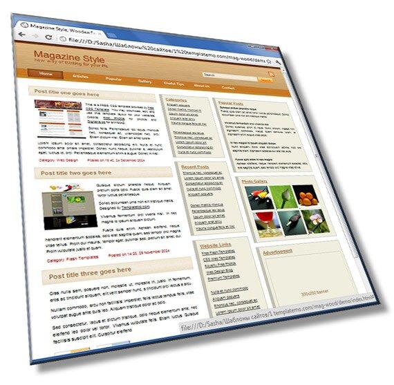 Шаблон сайта Magic Wood: HTML + CSS + JS - шаблон