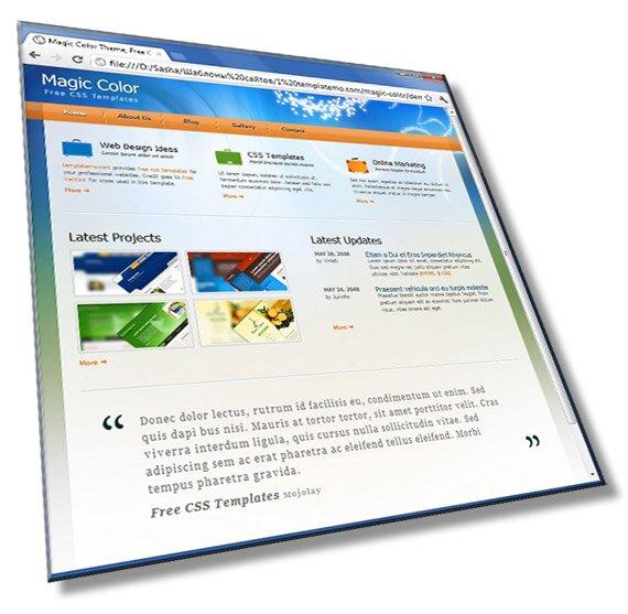 Шаблон сайта компании: HTML, CSS, JS, 5 страниц - шаблон