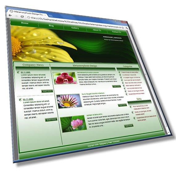 Шаблон сайта мини компании: HTML, CSS - шаблон
