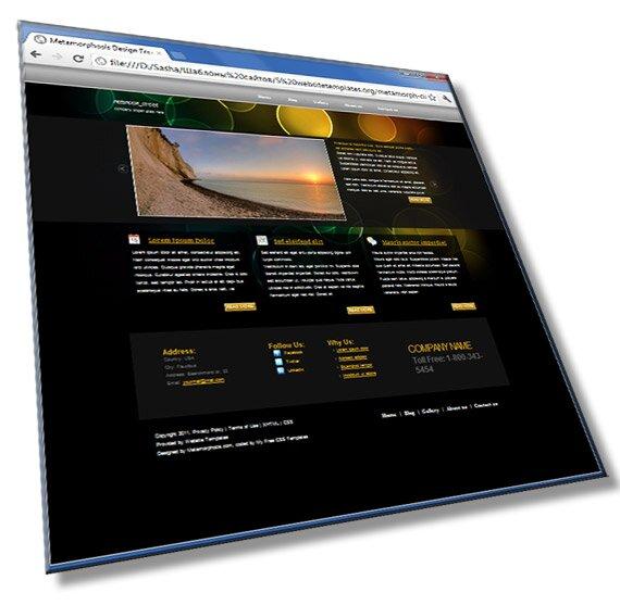 Шаблон сайта Hi-Tech: HTML, CSS, JS - шаблон