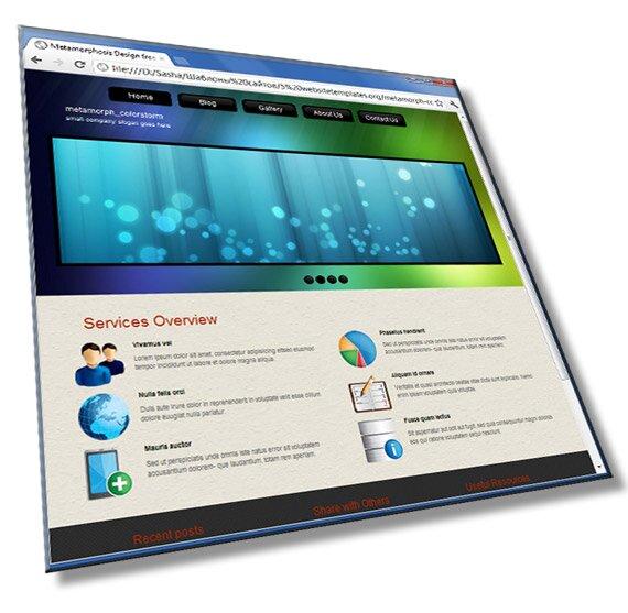 Шаблон для сайта бизнес тематики: HTML, CSS, JS - шаблон