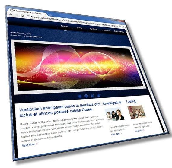 Шаблон сайта организации: HTML, CSS, JavaScript - шаблон