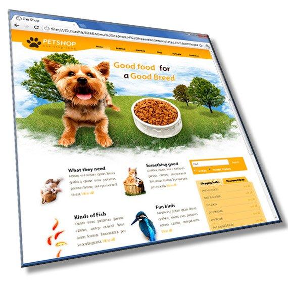 Шаблон сайта о животных: HTML, CSS, 6 страниц - шаблон