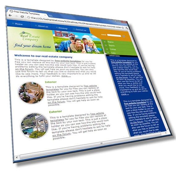 Шаблон сайта недвижимости: HTML, CSS, 8 страниц - шаблон