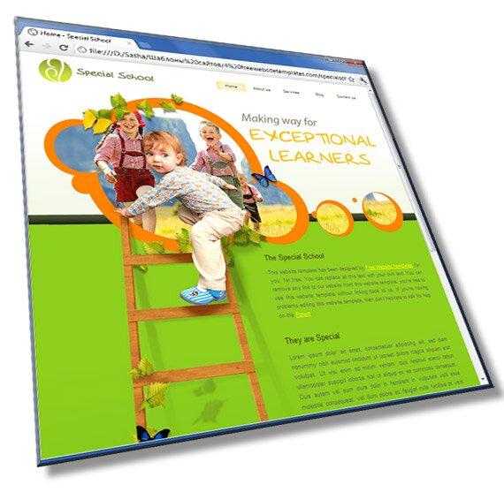 Шаблон сайта для школы: HTML, CSS, 5 страниц - шаблон