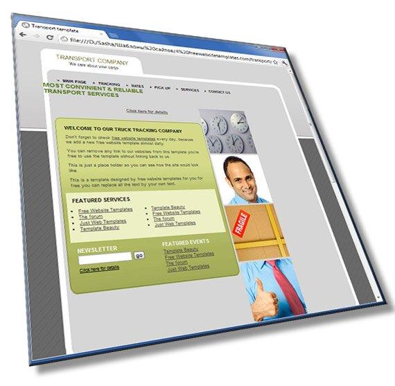 Шаблон сайта транспортной компании: HTML, CSS, 6 страниц - шаблон