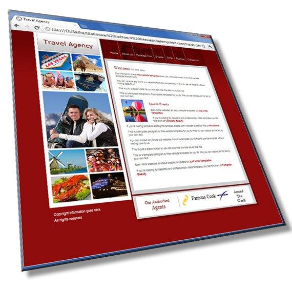 Шаблон сайта туристической компании: HTML, CSS - шаблон