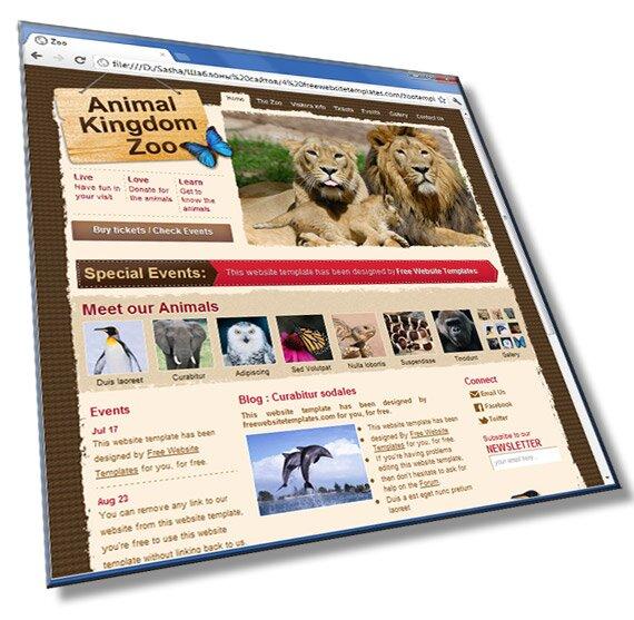 Шаблон сайта о животных: HTML, CSS, 8 страниц - шаблон